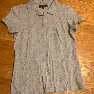 Aeropostale gray uniform polo